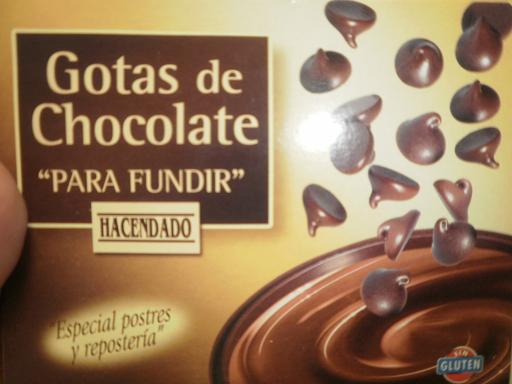 Gotas de chocolate marca Hacendado