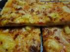 Masa de pizza casera.